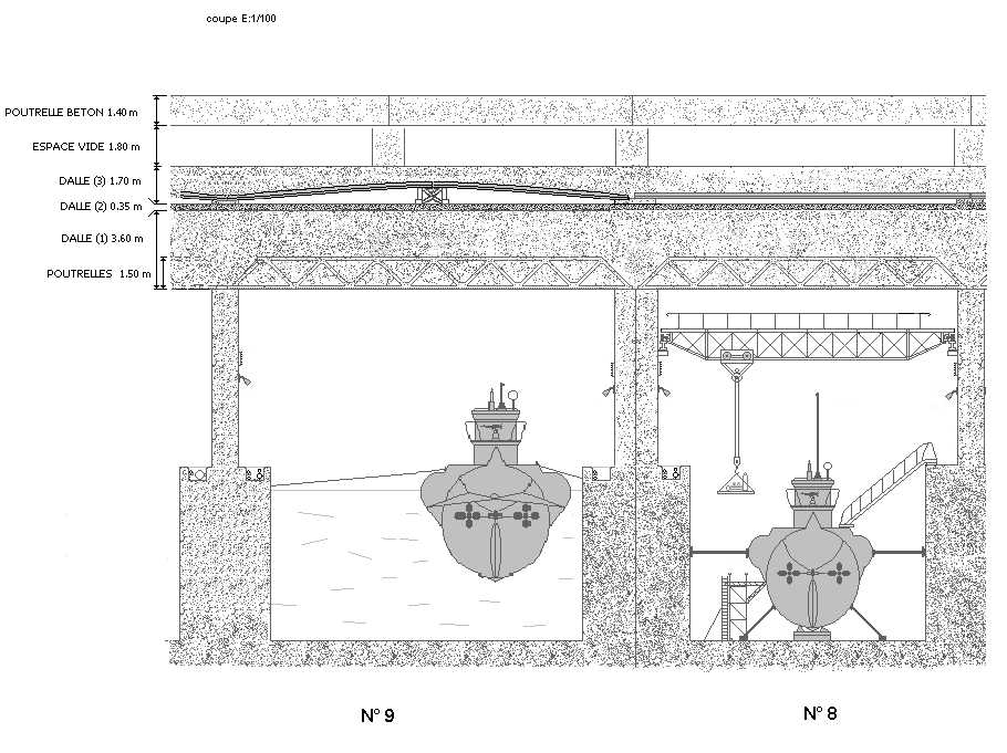 Int rieur alv oles u bunker de la base sous marine de for Interieur sous marin